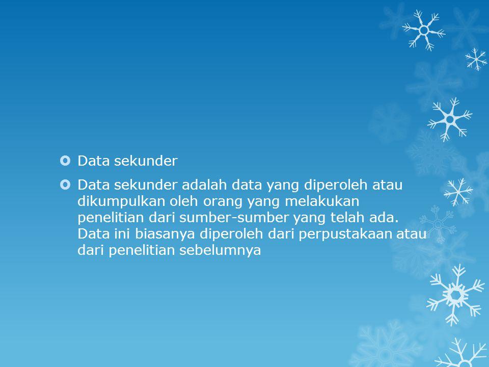 Pengelompokan data menurut waktu pengumpulannya  Berdasarkan waku pengumpulannya, data dapat dibedakan atas dua yaitu data berkala dan data kerat lintang:  Data berkala (time series)  Data berkala adalah data yang terkumpul dari waktu ke waku untuk memberikan gambaran perkembangan suatu kegiatan atau keadaan.