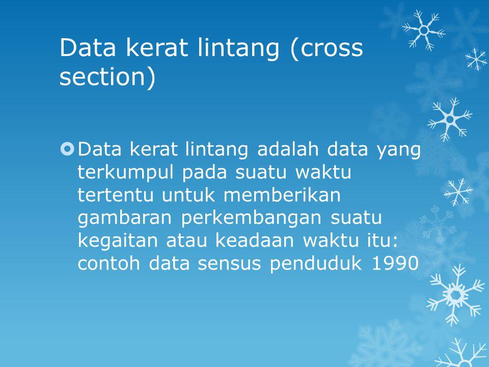 Pengelompokan data menurut sifatnya  Data kualitatif.