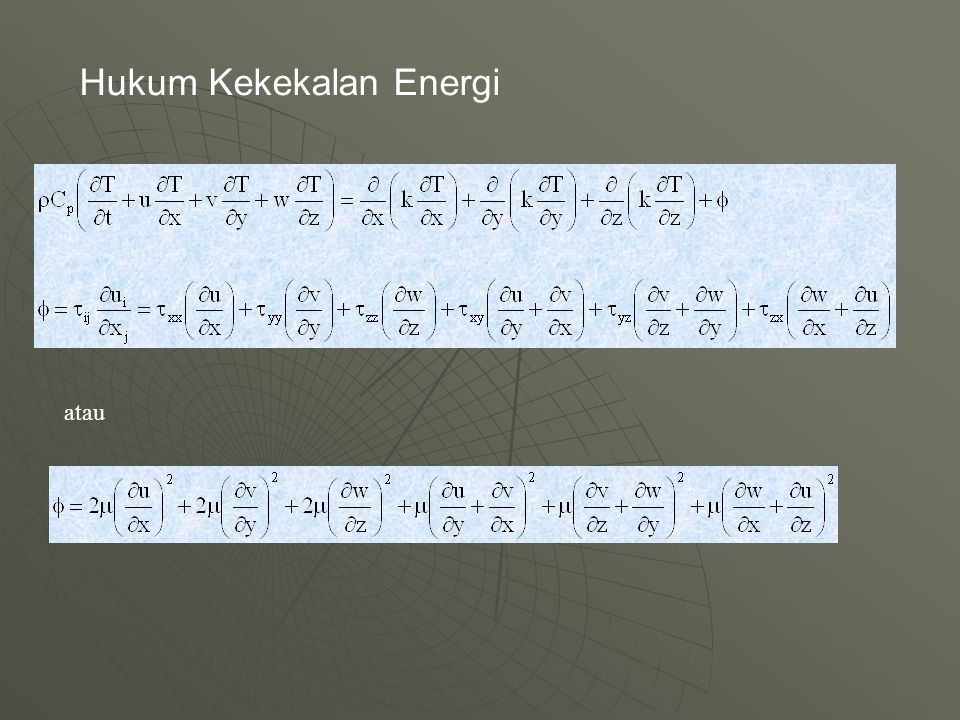 Hukum Kekekalan Energi atau