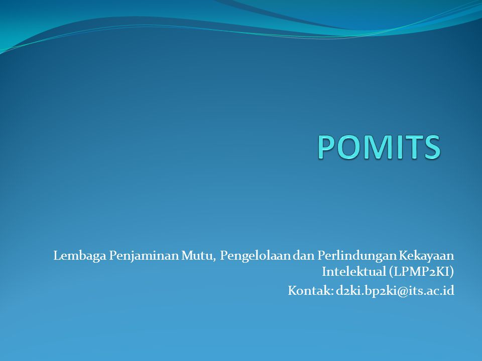 Nama Penulis Email dari principal contact  Pembimbing-1