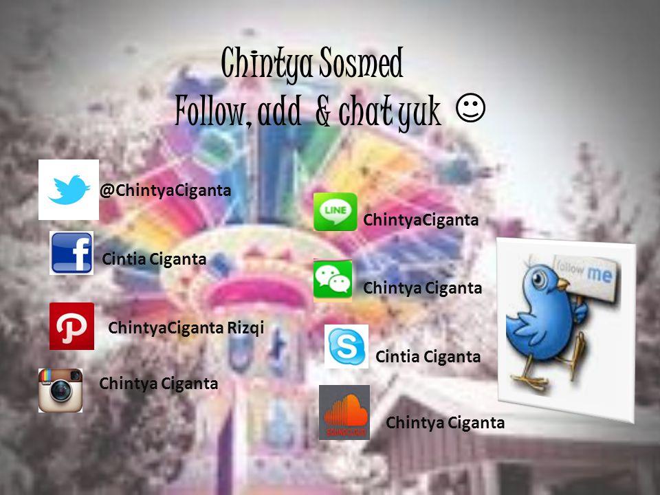 Chintya juga punya blog lho, kalo sempet mampir ya ke blog nya Chintya, buat sempetin baca blog nya Chintya-myword.blogspot.com