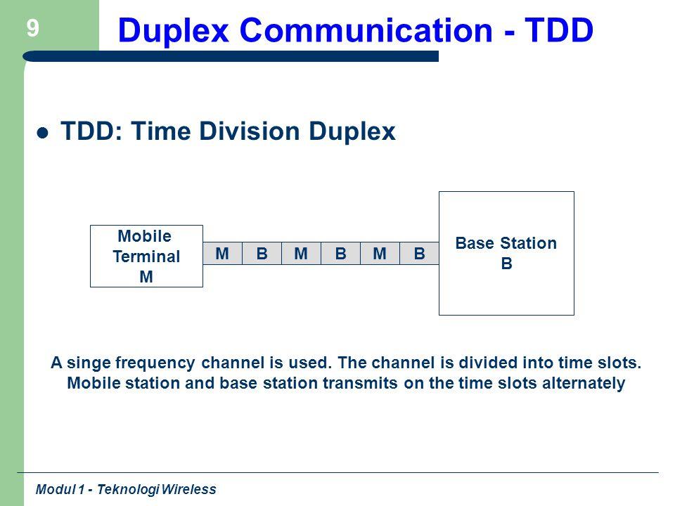 Modul 1 - Teknologi Wireless 10 Example - Frequency Spectrum Allocation in U.S.