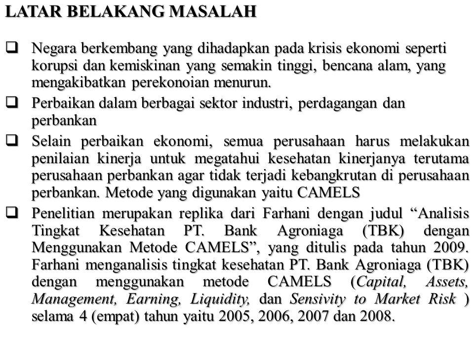 Batasan Masalah Penelitian 1.Penilaian hanya dilakukan selama 3 tahun terakhir dari tahun 2007 sampai tahun 2009 karena keterbatasan data pada bank syariah, sehingga penelitian pada bank konvensional disesuaikan dengan data yang dimiliki oleh bank syariah.