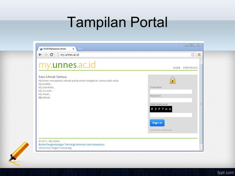 Tampilan Portal
