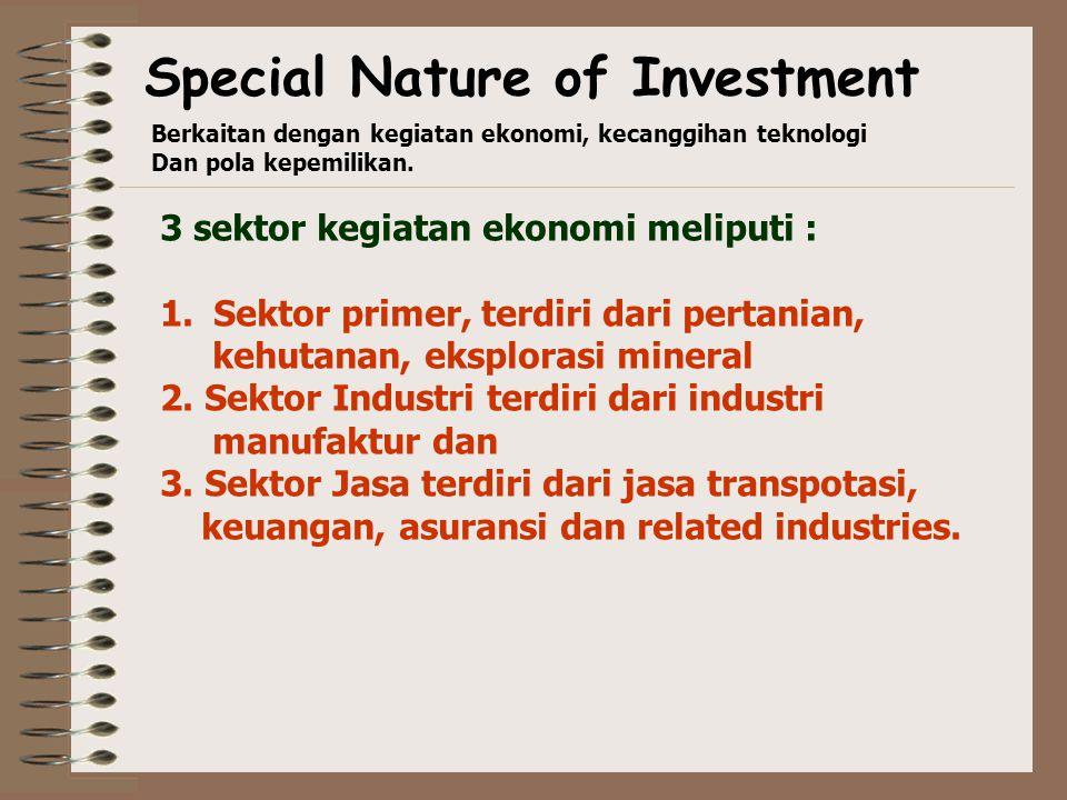 Conglomerate investment  barang-barang dan jasa yang diproduksi tidak sama dg yang diproduksi di negara asal  tipe investasi ini biasanya tingkat re