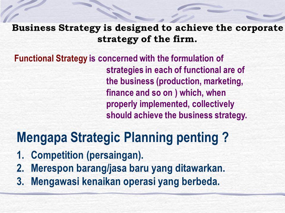 4 Macam tingkatan dalam strategy organisasi 1.Societal Strategies 2.Corporate Strategies 3.Business Strategies 4.Functional Strategies Societal Strate