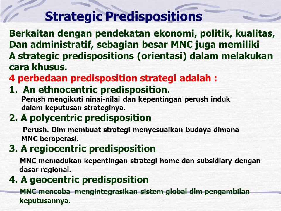 Manfaat Strategic Planning bagi MNCs 1.SP penting untuk keberhasilan. 2.Membantu MNC dlm mengkordinasi dan memonitor operasi yang dipandang menguntung