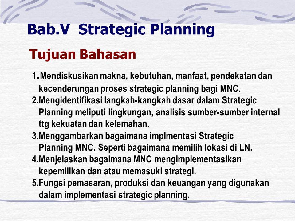 Bab.V Strategic Planning Tujuan Bahasan 1.