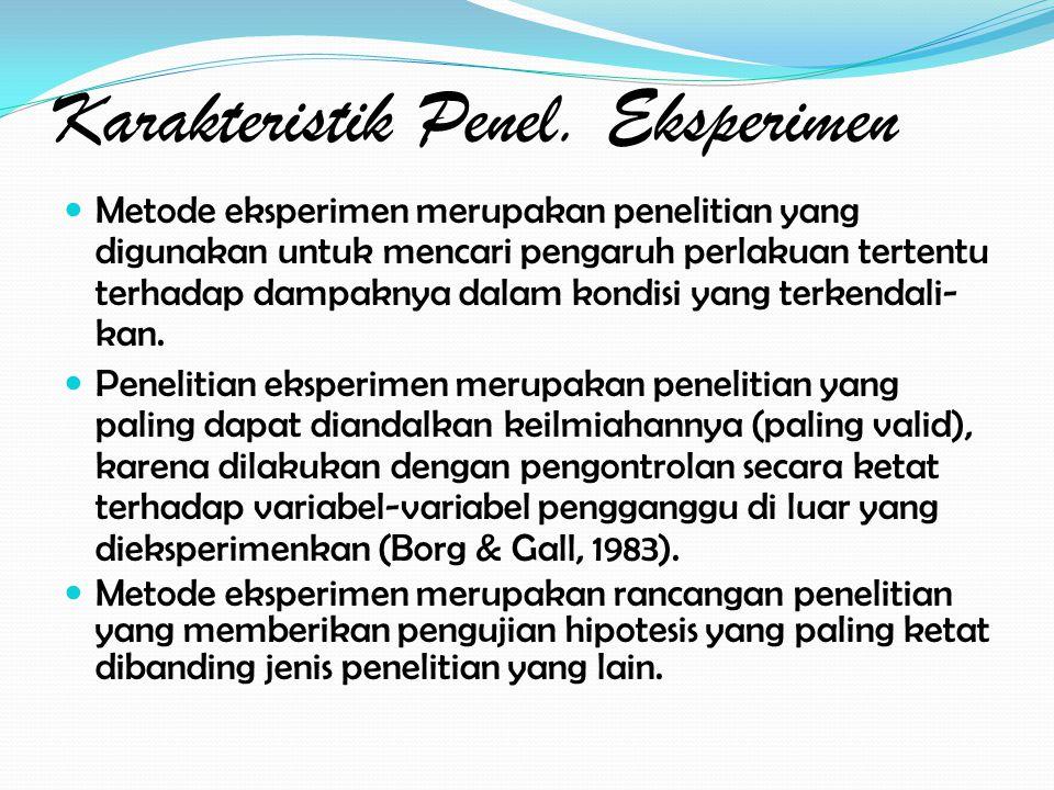 Karakteristik Penel.