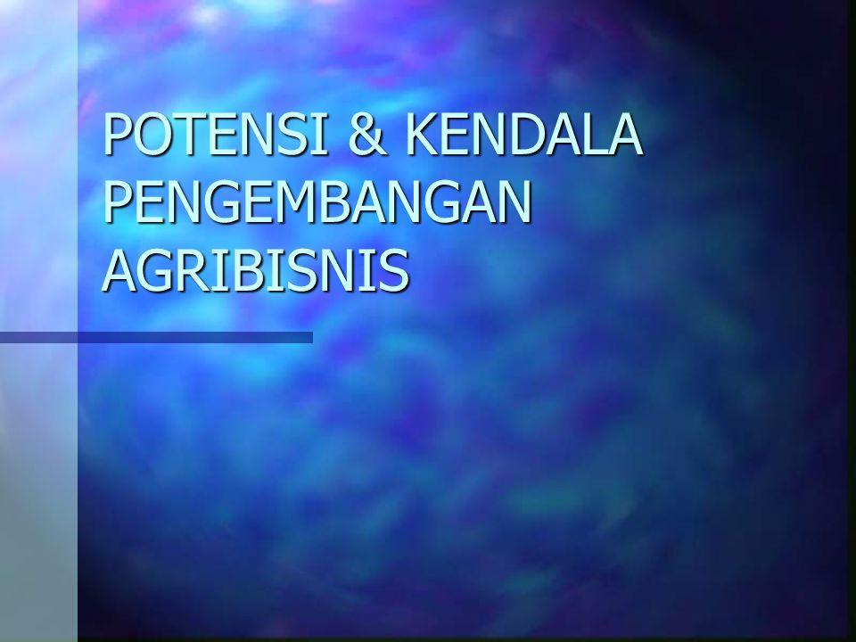 POTENSI & KENDALA PENGEMBANGAN AGRIBISNIS