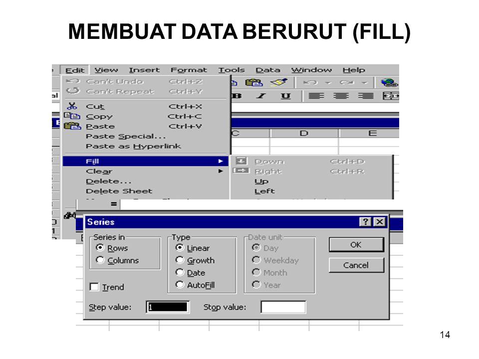 14 MEMBUAT DATA BERURUT (FILL)