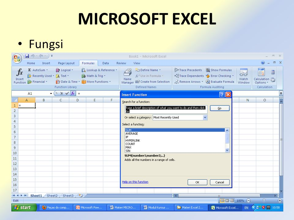 MICROSOFT EXCEL Fungsi