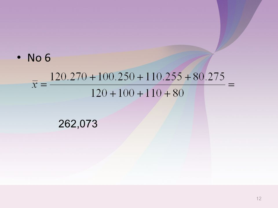 No 6 12 262,073