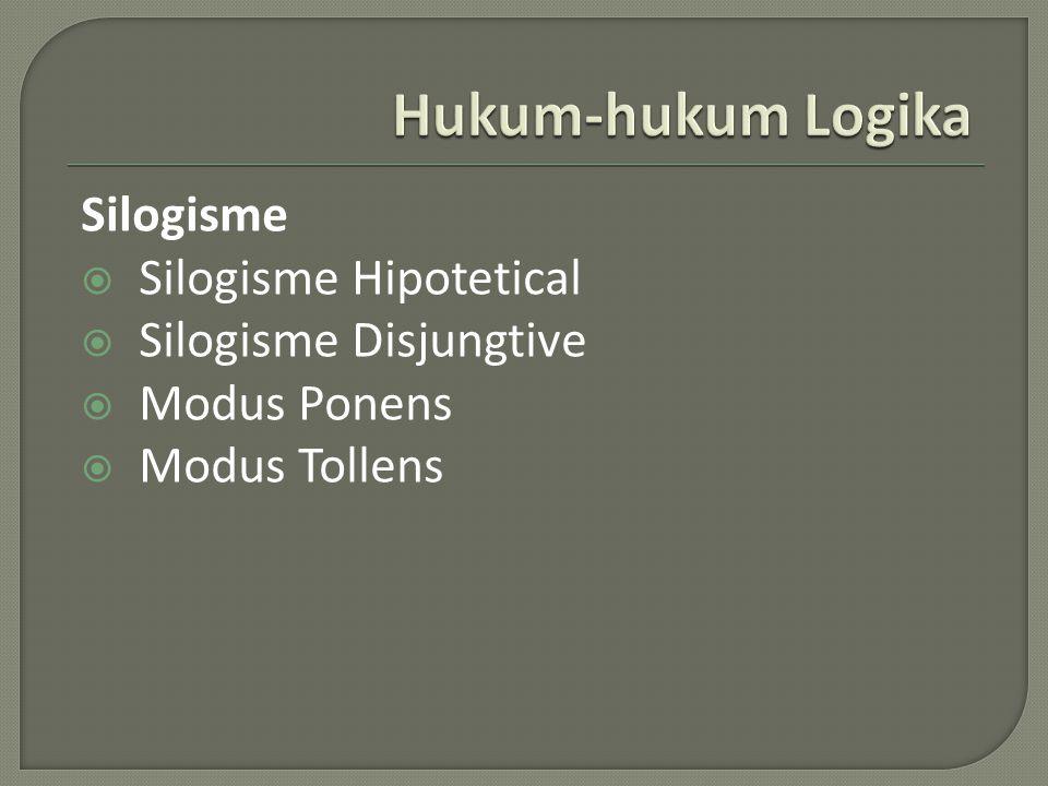 Silogisme  Silogisme Hipotetical  Silogisme Disjungtive  Modus Ponens  Modus Tollens