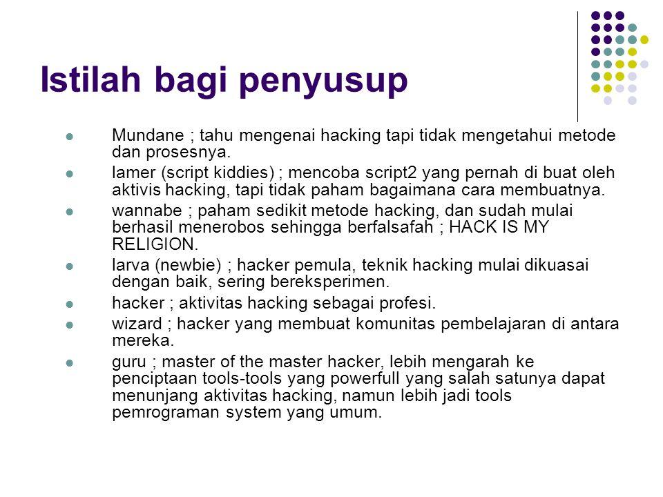 Aspek Keamanan Komputer Privacy / Confidentiality Defenisi : menjaga informasi dari orang yang tidak berhak mengakses.