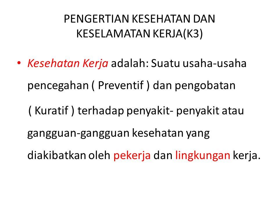 BUKU REFERENSI Suma'mur.(1984). Higene Perusahaan dan Kesehatan kerja.