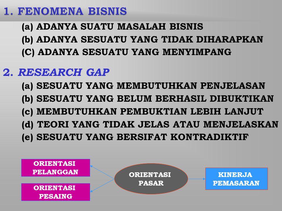 (a) ADANYA SUATU MASALAH BISNIS (b) ADANYA SESUATU YANG TIDAK DIHARAPKAN (C) ADANYA SESUATU YANG MENYIMPANG 2.