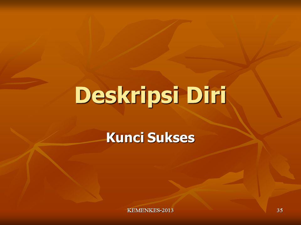 Deskripsi Diri Kunci Sukses 35KEMENKES-2013