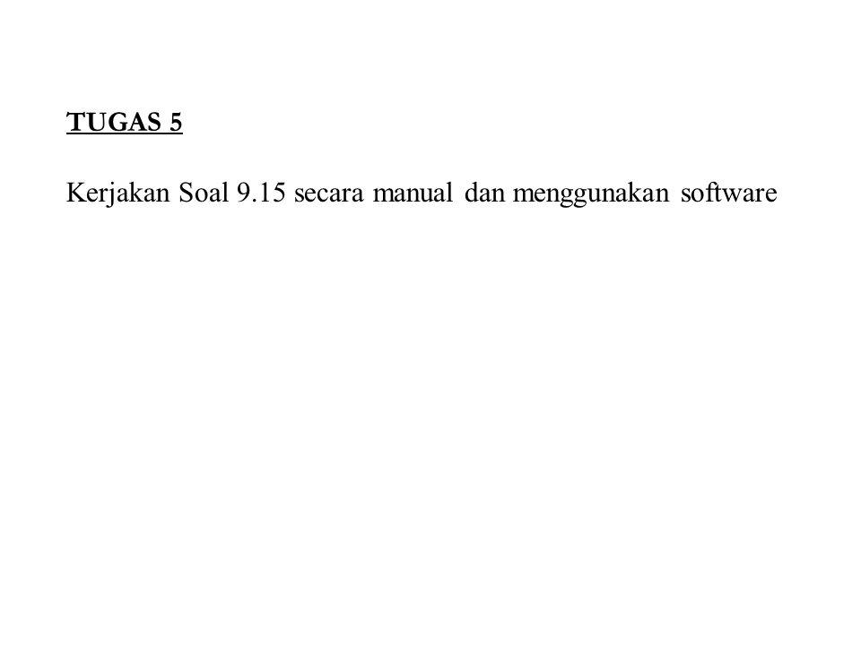 TUGAS 5 Kerjakan Soal 9.15 secara manual dan menggunakan software