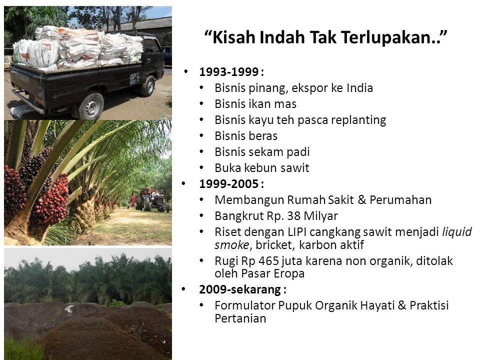 1993-1999 : Bisnis pinang, ekspor ke India Bisnis ikan mas Bisnis kayu teh pasca replanting Bisnis beras Bisnis sekam padi Buka kebun sawit 1999-2005
