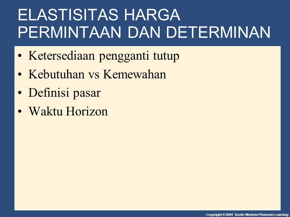 Gambar 1 Elatisitas Harga Permintaan (b) Inelastic Demand: Elasticity Is Less Than 1 Quantity 0 $5 90 Demand 1.