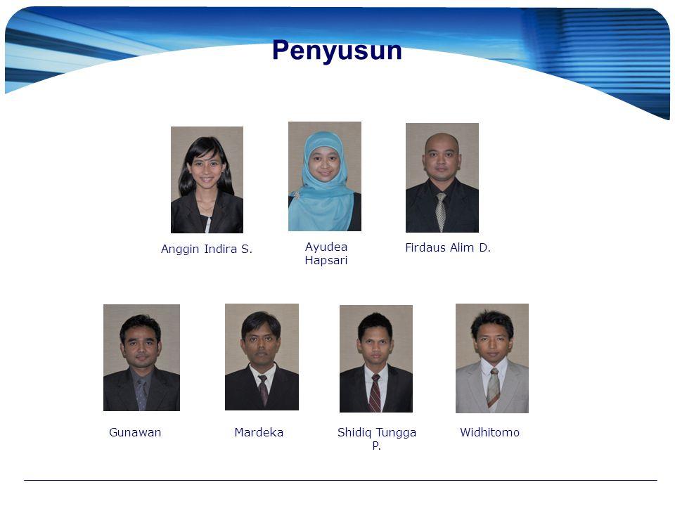 Penyusun Anggin Indira S. Ayudea Hapsari Firdaus Alim D. GunawanMardekaShidiq Tungga P. Widhitomo