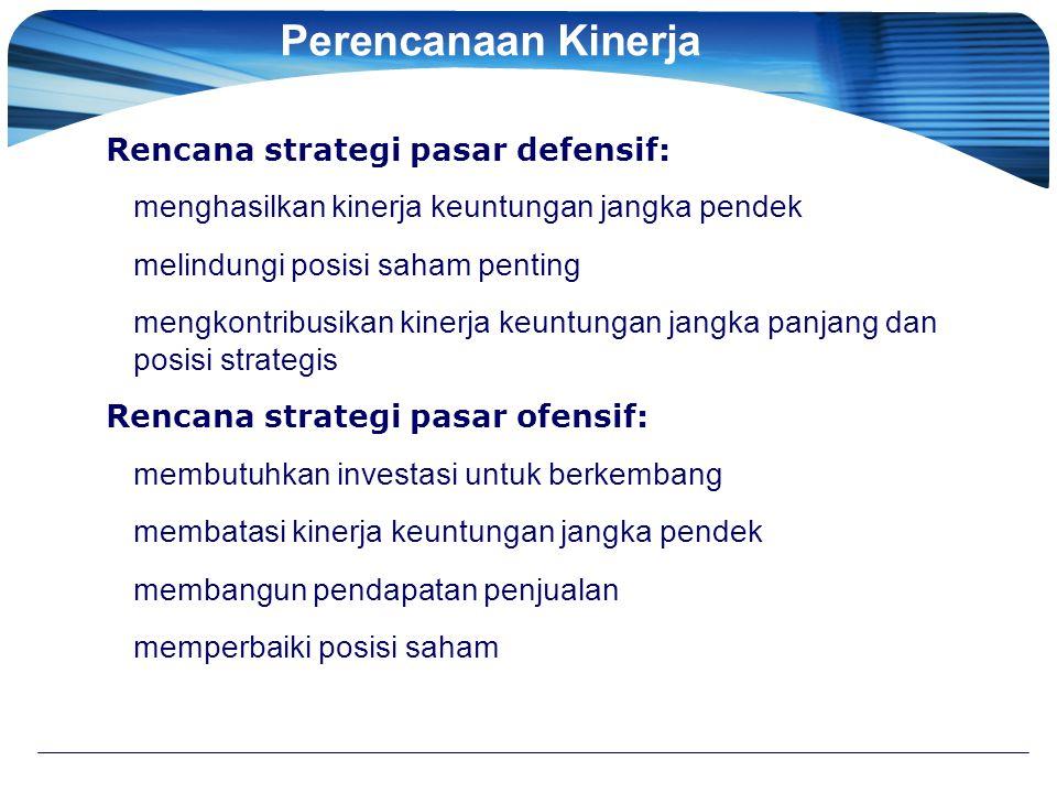 Perencanaan Kinerja Rencana strategi pasar defensif: menghasilkan kinerja keuntungan jangka pendek melindungi posisi saham penting mengkontribusikan k
