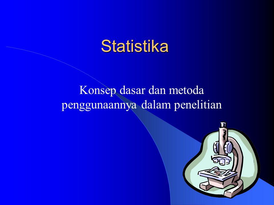 Statistika Konsep dasar dan metoda penggunaannya dalam penelitian