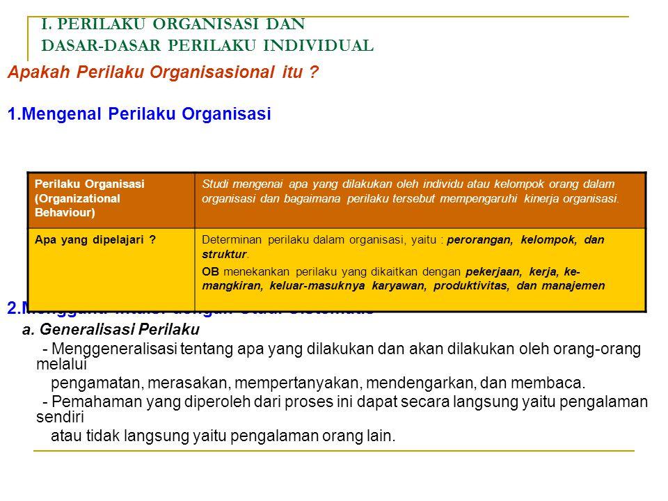 PERILAKU ORGANISASIONAL Oleh : Prof. Dr. Suparyadi, MM. HAND OUT MAGISTER MANAJEMEN UNIV. SARJANAWIYATA TAMANSISWA YOGYAKARTA 2009