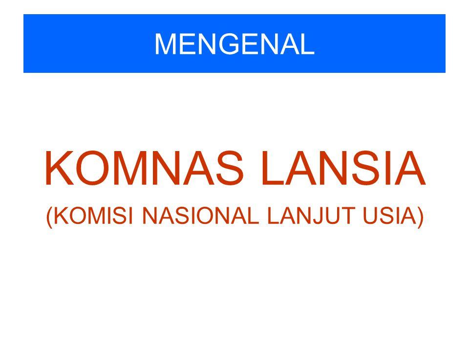 MENGENAL KOMNAS LANSIA (KOMISI NASIONAL LANJUT USIA)