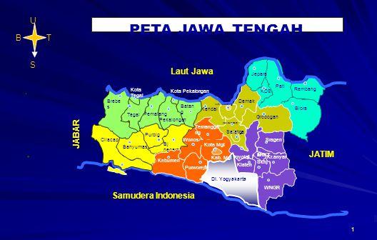 1. Samudera Indonesia U T S B PETA JAWA TENGAH