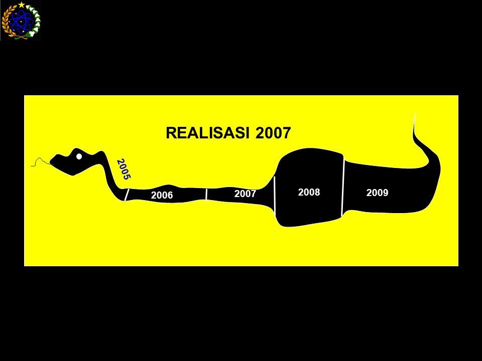 2005 2006 2007 2008 2009 REALISASI 2007