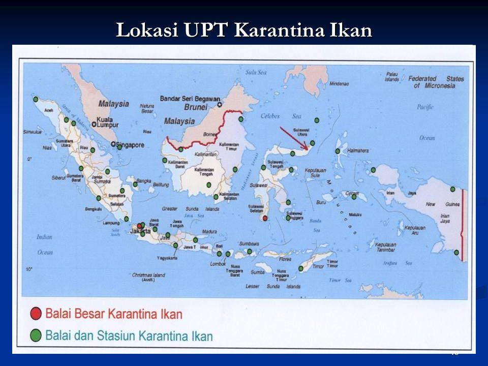 49 Lokasi UPT Karantina Ikan