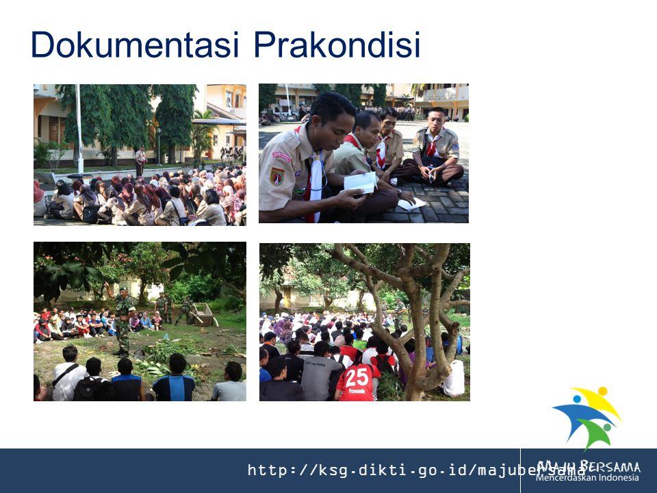 http://ksg.dikti.go.id/majubersama Dokumentasi Prakondisi