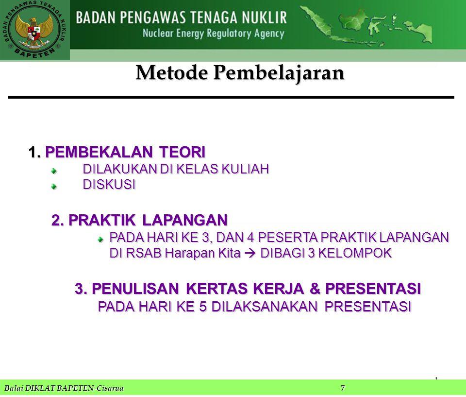 1.PEMBEKALAN TEORI DILAKUKAN DI KELAS KULIAH DISKUSI 2.