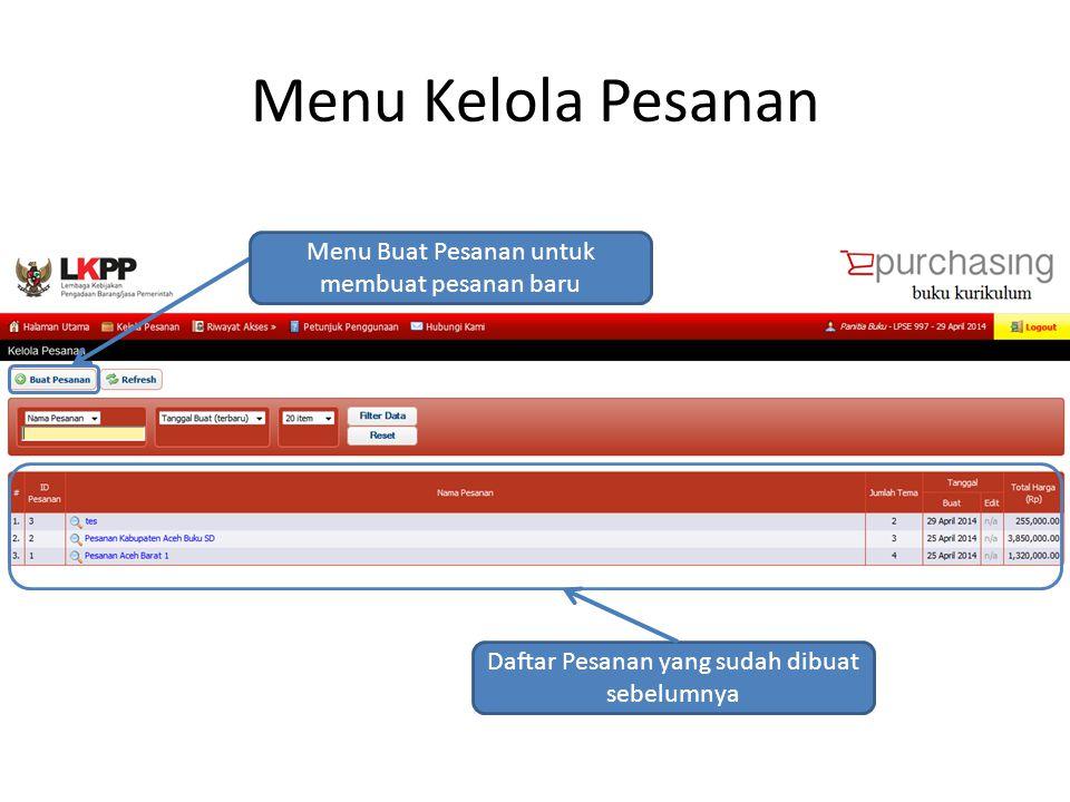 Pembuatan Pesanan Baru Mengisi informasi dasar Setelah mengisi informasi dasar, tekan tombol Lanjutkan