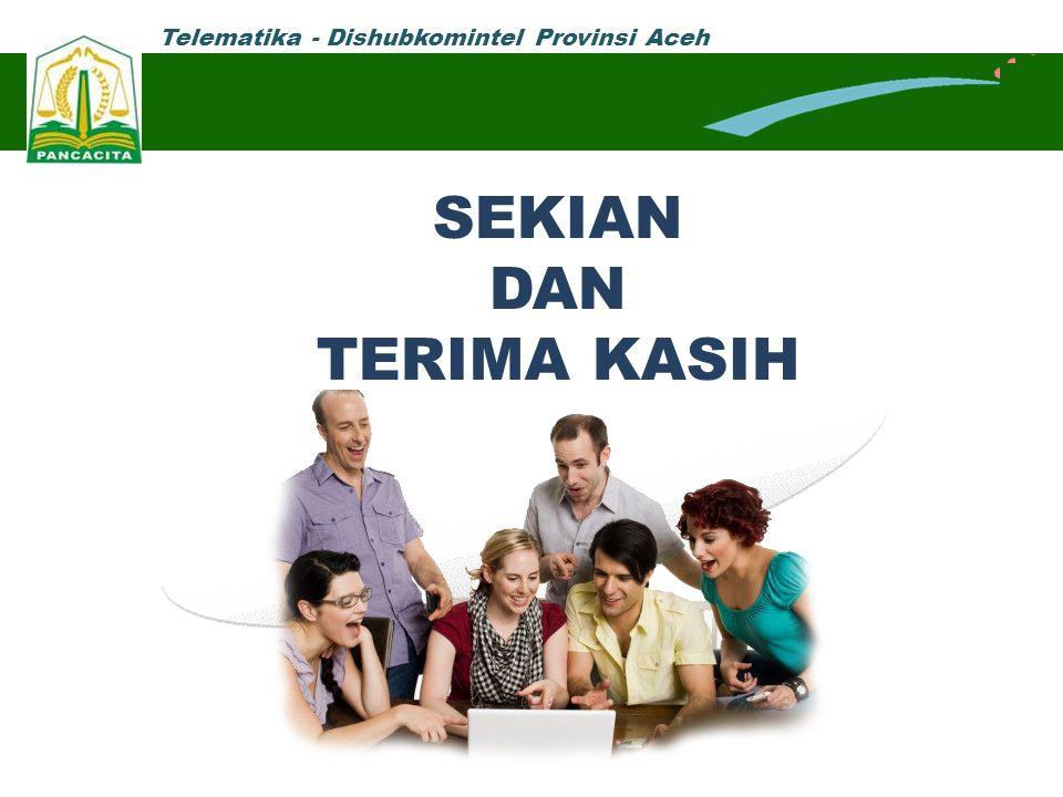 Telematika - Dishubkomintel Provinsi Aceh SEKIAN DAN TERIMA KASIH