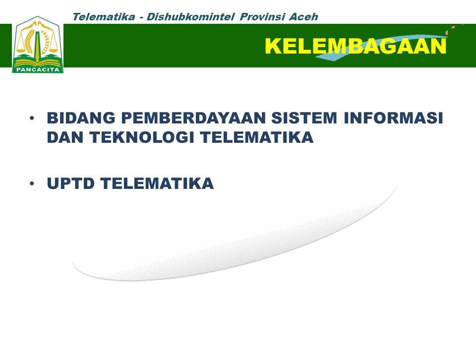 Telematika - Dishubkomintel Provinsi Aceh LAYANAN SYSTEM:  Free E-mail SYSTEM, email@acehprov.go.idemail@acehprov.go.id  Domain Hosting, domain.acehprov.go.id  Colocation Hosting Services  Colocation Server Services  Panel DNS Server Service LAYANAN KAMI SAAT INI LAYANAN SYSTEM UNTUK PEMERINTAHAN PROFILE