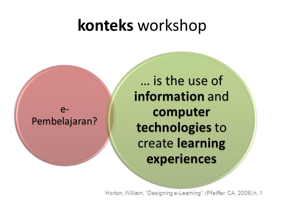 konteks workshop e- Pembelajaran.