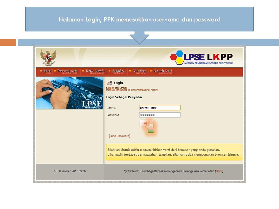  Panitia berhasil login, saat di halaman Home memilih 'Aplikasi e-procurement lainnya' Halaman Home aplikasi LPSEMengklik Aplikasi e-procurement lainnya.