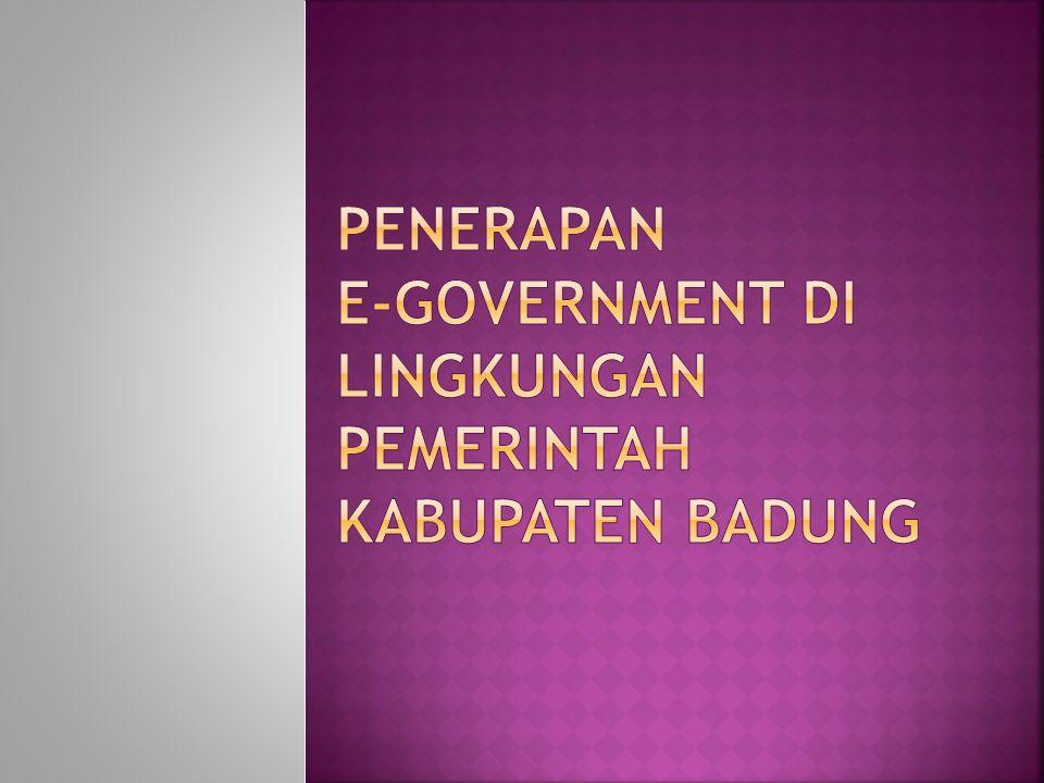  Berdasarkan hasil kajian, terdapat 34 buah aplikasi yang harus dibangun untuk mensukseskan pelaksanaan E-Government di Kabupaten Badung.