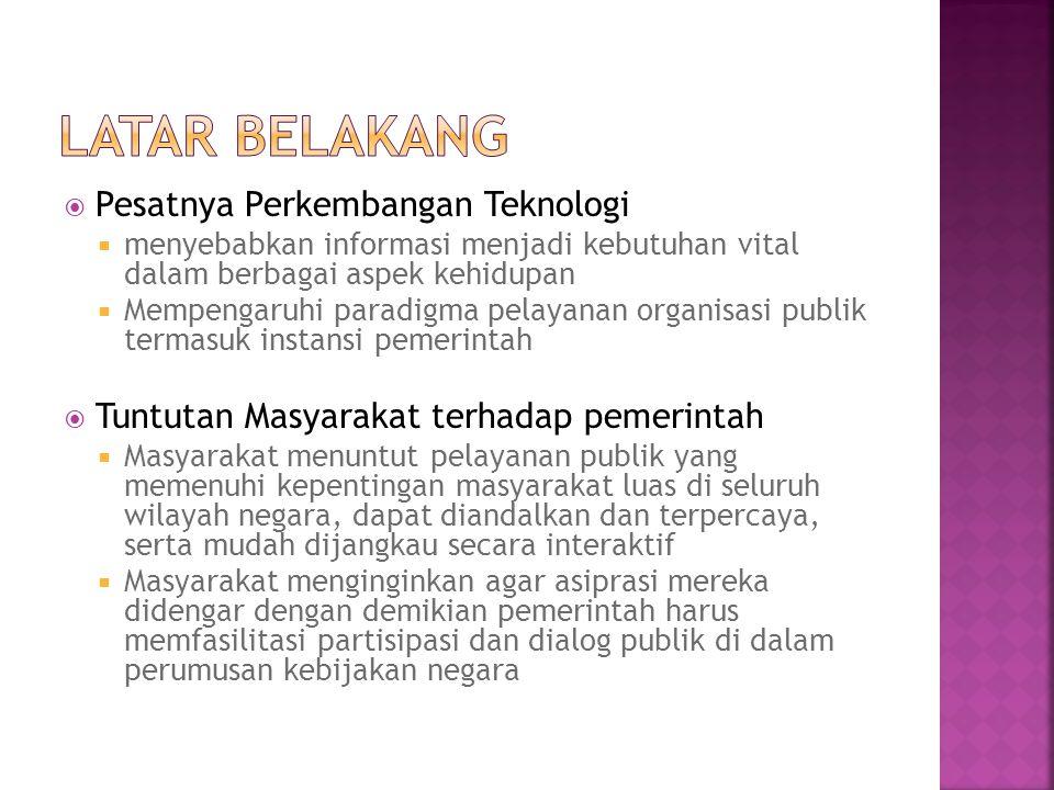  Sistem Informasi yang menjadi Pilot Project pengembangan Sistem Informasi di Pemerintah Kabupaten Badung :  SIM Perhubungan / SIM Transportasi  SIM Terminal  SIM Pengujian Kendaraan  SIM Aplikasi Informasi dan Telekomunikasi