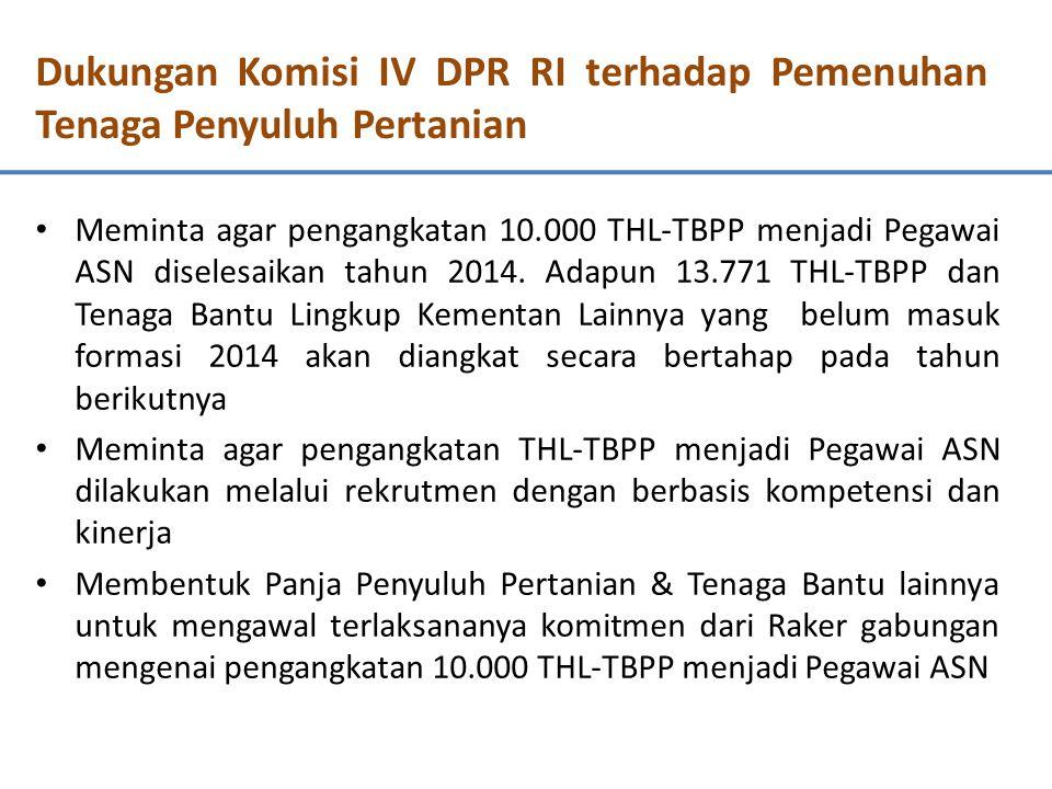 Dukungan Komisi IV DPR RI terhadap Pemenuhan Tenaga Penyuluh Pertanian Menginisiasi Rapat Kerja Gabungan antara Komisi IV, Komisi II dan Komisi XI DPR