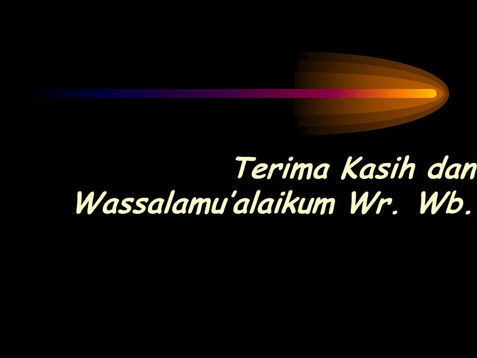Terima Kasih dan Wassalamu'alaikum Wr. Wb.