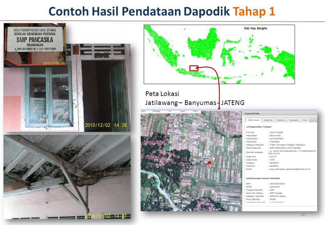 Peta Lokasi Jatilawang – Banyumas - JATENG Contoh Hasil Pendataan Dapodik Tahap 1 40