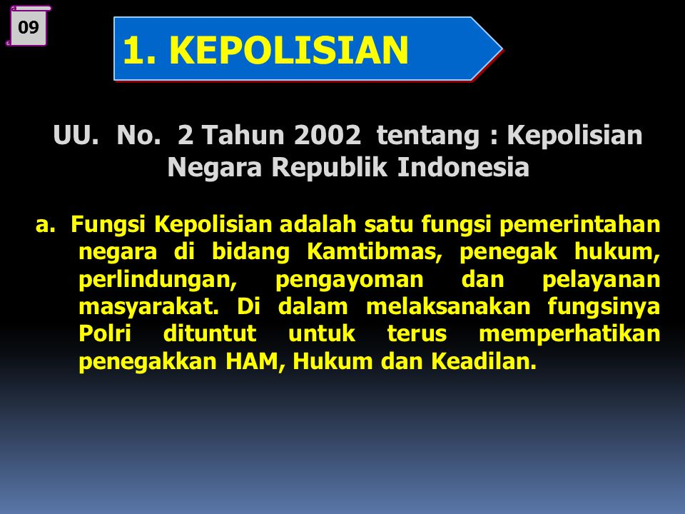 08 C. Badan Penegak Keadilan 1. Kepolisian2. Kejaksaan3. Kehakiman