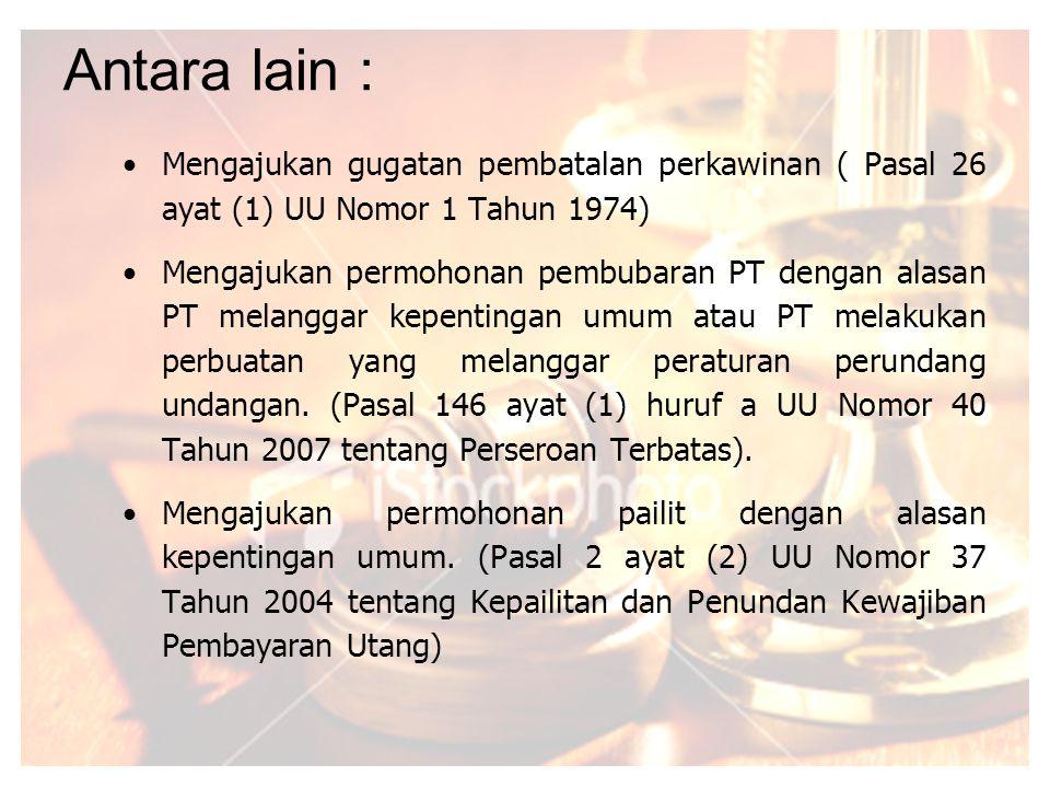 INSJA Nomor : INS-001/G/9/1994 tentang Tata Laksana Penegakan Hukum. Penegakan Hukum ialah tindakan hukum yang dilakukan oleh kejaksaan di bidang DATU