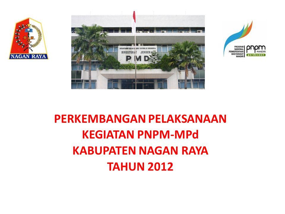 PERKEMBANGAN PELAKSANAAN KEGIATAN PNPM-MPd KABUPATEN NAGAN RAYA TAHUN 2012