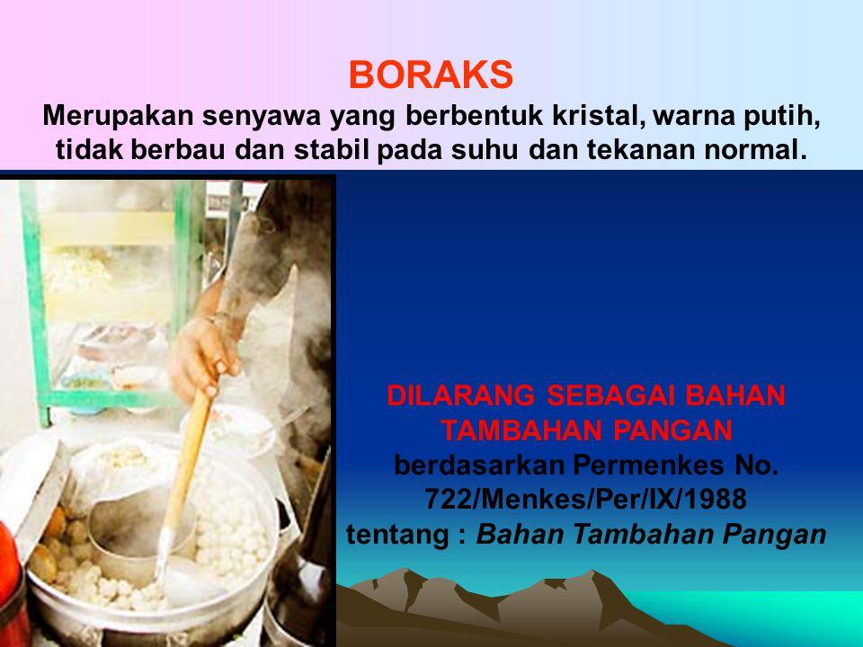 BORAKS (Borax) NAMA LAIN : Pijer, Bleng atau Gendar Na 2 B 4 O 7