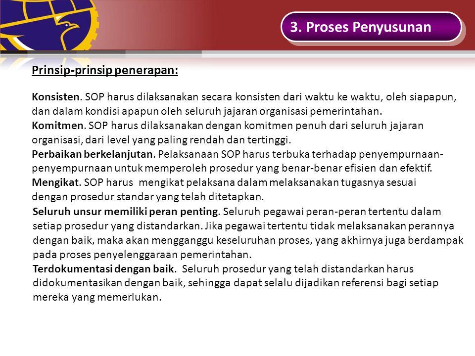 3.Proses Penyusunan Prinsip-prinsip penerapan: Konsisten.